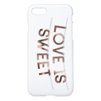 love is sweet Custom iPhone 7 Glossy Case