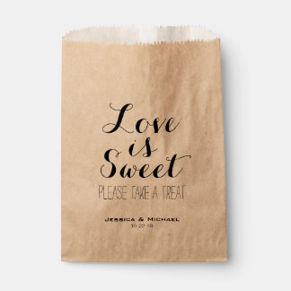 Love is sweet custom wedding candy buffet favor favour bag