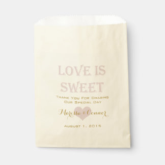 Love Is Sweet Gold and Blush Wedding Bags