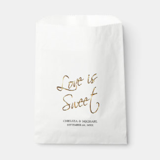 Love is Sweet - Gold Metal Favour Bag