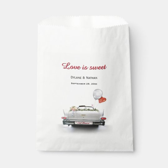 Love is Sweet - Just Married Car Favour Bag