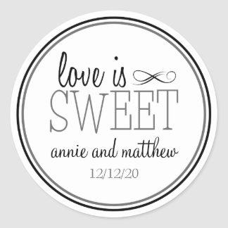 Love Is Sweet Labels (Black / Gray) Stickers