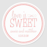Love Is Sweet Labels (Blush / Terra Cota) Stickers