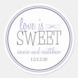Love Is Sweet Labels (Purple / Grey)