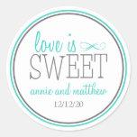 Love Is Sweet Labels (Teal / Grey)