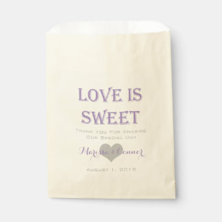Love Is Sweet Lavender and Grey Wedding Bags