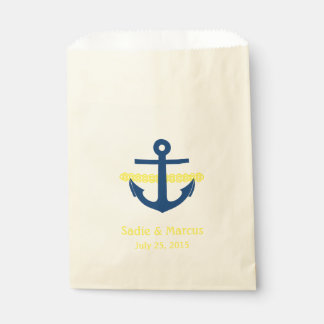 Love Is Sweet Nautical Anchor & Rope in Yellow Favour Bag