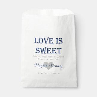 Love Is Sweet Navy and Grey Wedding Bags