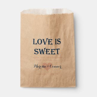Love Is Sweet Navy and Pink Wedding Bags