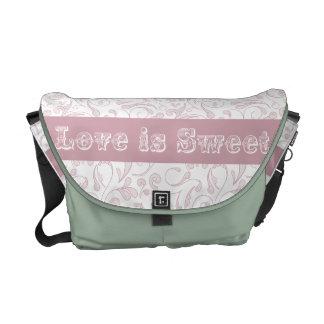 Love is Sweet Pattern Vector Messenger Bags