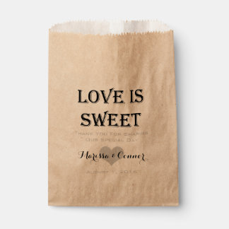 Love Is Sweet Personalized Wedding Favour Bag