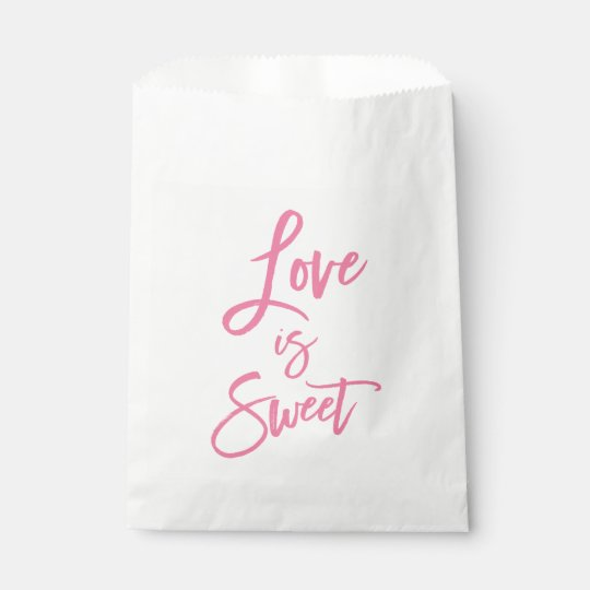 Love Is Sweet Pink Favour Bags