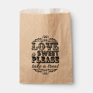 Love Is Sweet, Please Take A Treat! Wedding Favors Favour Bag