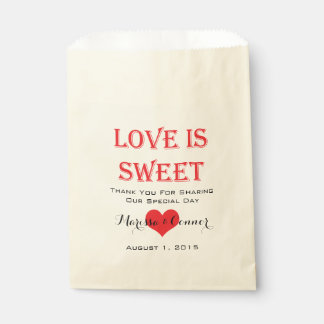 Love Is Sweet Red and Black Wedding Bags