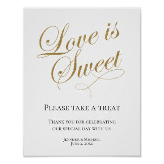Love is Sweet, Take a Treat Favor Display Poster