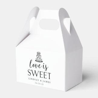 Love is Sweet | Wedding Cake Favor Box