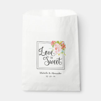 Love is Sweet - Wedding Favor Bag, Shower Treats Favour Bag