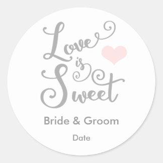 Love is Sweet Wedding Favor Sticker