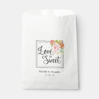 Love is Sweet - Wedding Favour Bag, Shower Treats Favour Bag