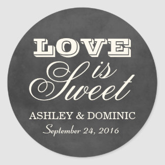 Love is Sweet Wedding Sticker | Vintage Chalkboard