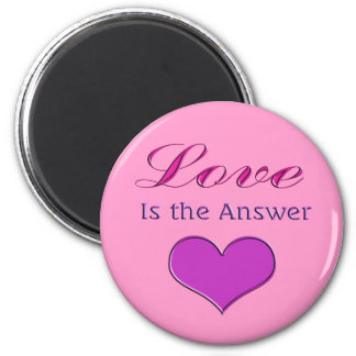 love is the answer 2 inch round magnet