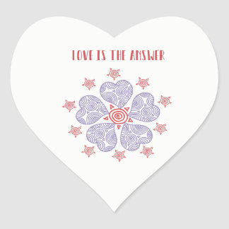 Love Is The Answer Glossy Sticker