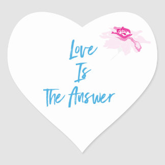 Love Is The Answer Heart Stickers