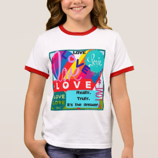Love is the Answer Jumble Ringer T-Shirt