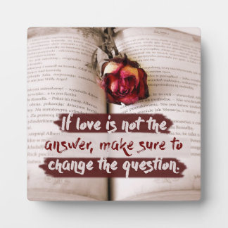 Love Is The Answer Plaque