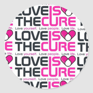Love Is The Cure Pink Sticker