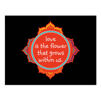 Love is the Flower Postcard