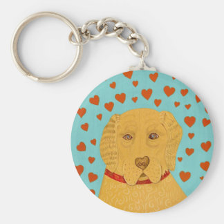 Love is the Goldens Rule- Stephen Huneck Keychain