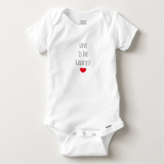 Love is the Greatest Baby Onesie