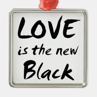 Love is the New Black Christmas Tree Ornament