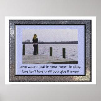 Love isn't love - love quote - art print