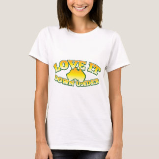 Love it Down under Aussie Australian shop Design T-Shirt