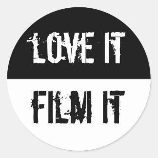 Love It Film It Classic Round Sticker