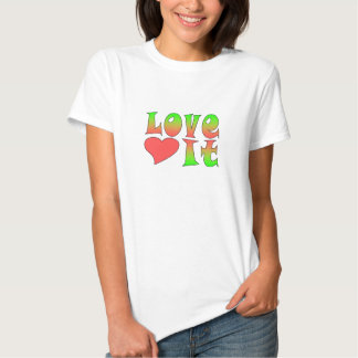 """""""Love It"""" Preppy Girl Graphic Tee with Heart"""