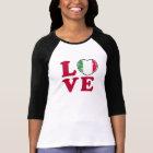 Love Italian Flag Heart T-Shirt