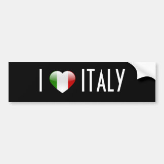 Love Italy Bumper Sticker