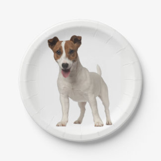 Love Jack Russel Terrier Puppy Dog Paper Plates 7 Inch Paper Plate