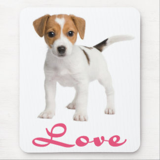 Love Jack Russell Terrier Puppy Dog Mousepad