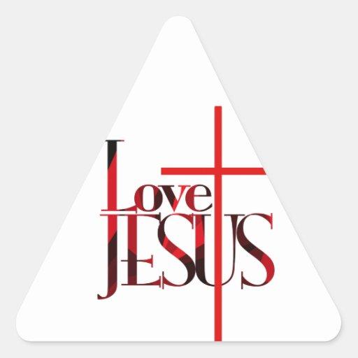 Love Jesus and The Cross. Sticker