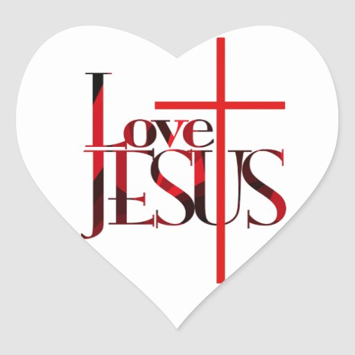 Love Jesus and The Cross. Sticker