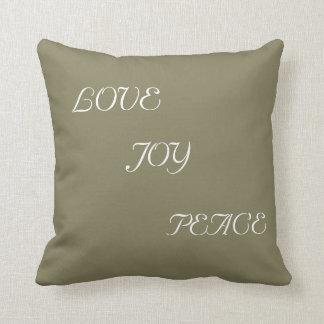 Love Joy and Peace Throw Pillow