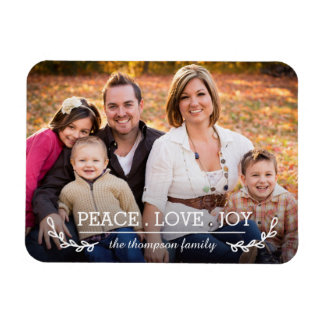 Love & Joy Family Photo Magnet