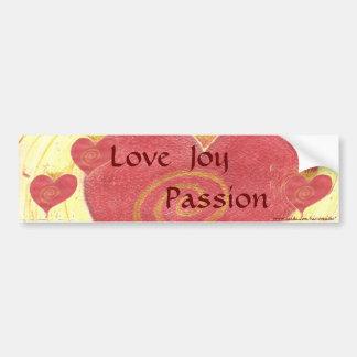 Love, Joy, Passion Bumper Sticker