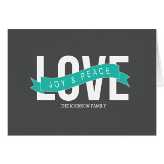 love, joy & peace card