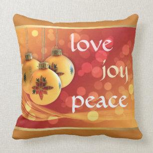 Gold Christmas Pillows Amp Cushions Zazzle Ca