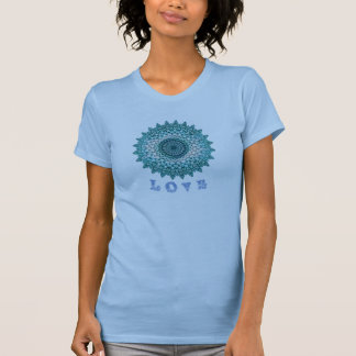 LOVE & JOY & PEACE Geometric Flora Motif T-Shirt